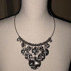 Premier Designs Silver Round Disc Necklace